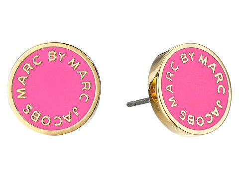 Marc by Marc Jacobs Marc by Marc Jacobs  Enamel Logo Disc Studs Earring Knock Out Earring for 34.99 at Im in! #sale #fashion #I'mIn
