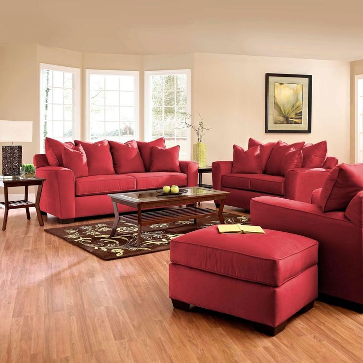 Sofa Slipcover Sofas With A Red Leather, Dark Red Color Leather Sofa