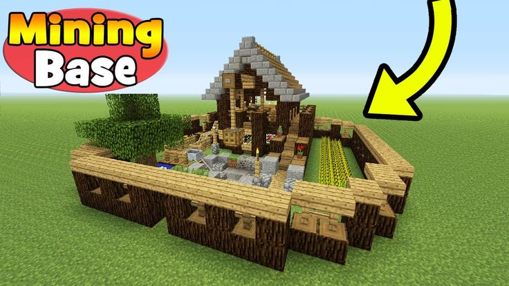 "Minecraft Tutorial: How To Make A Mining Base ""Survival Base"" - YouTube"