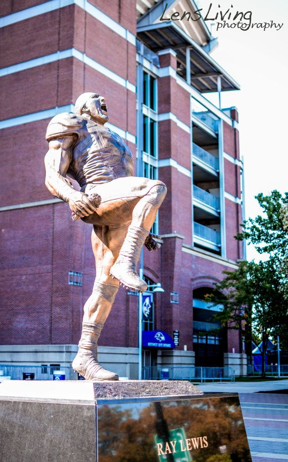 Ray Lewis Statue. Baltimore Ravens Stadium. by LensLiving on Etsy