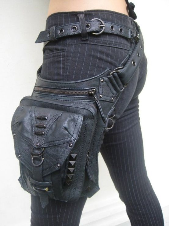This Cyberpunk Bag would look really cool with a outer-space cowboy kind of theme.