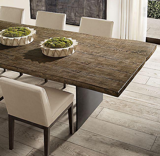 Reclaimed Russian Oak Live Edge Rectangular Dining Table Rectangular Dining Table Dining Table Rectangle Dining Table