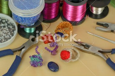 Crochet Wire Jewelry Royalty Free Stock Photo