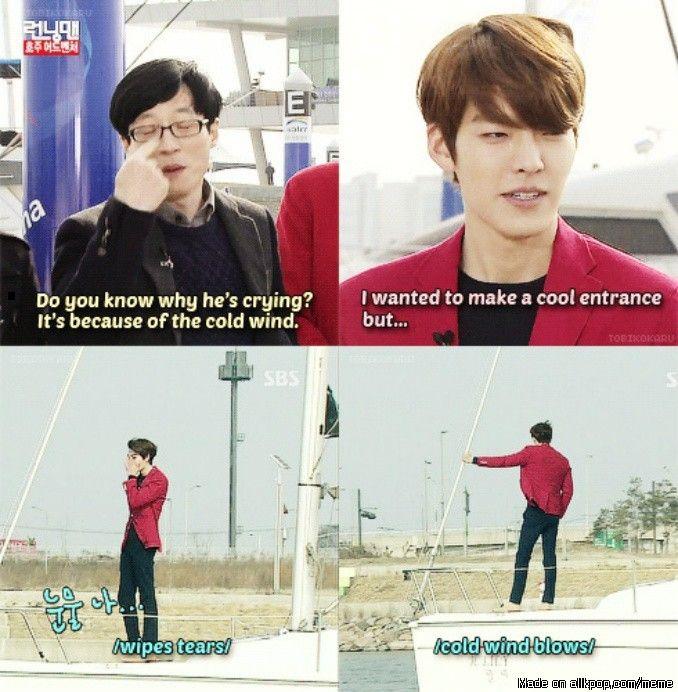 Kim Woo Bin on Running Man = hilarity every. single. time.