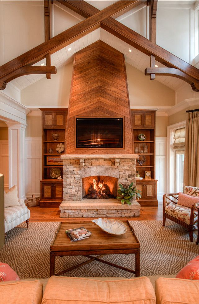 Best 25 family room fireplace ideas on pinterest fireplace built ins living room cabinets - Beautiful corner fireplace design ideas for your family time ...