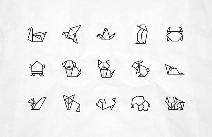 Vektor-Origami-Tierikonen – #icon #VektorOrigamiTierikonen – Brock