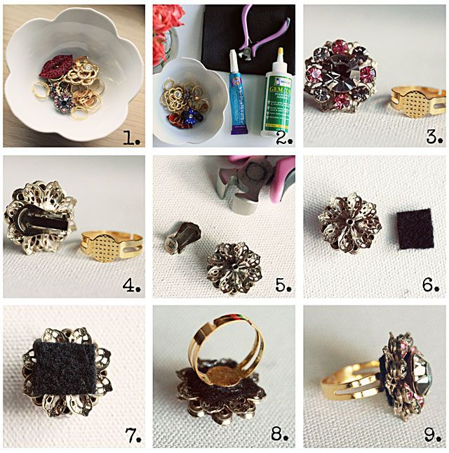 I am Style-ish: Easy DIY! Make your own cocktail rings