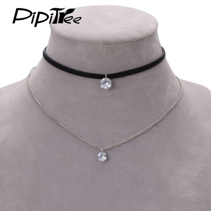 Cool Choker Necklace for Women Snake Pendant with Crystal Unique Gifts for Girls CwUSvbiZ2