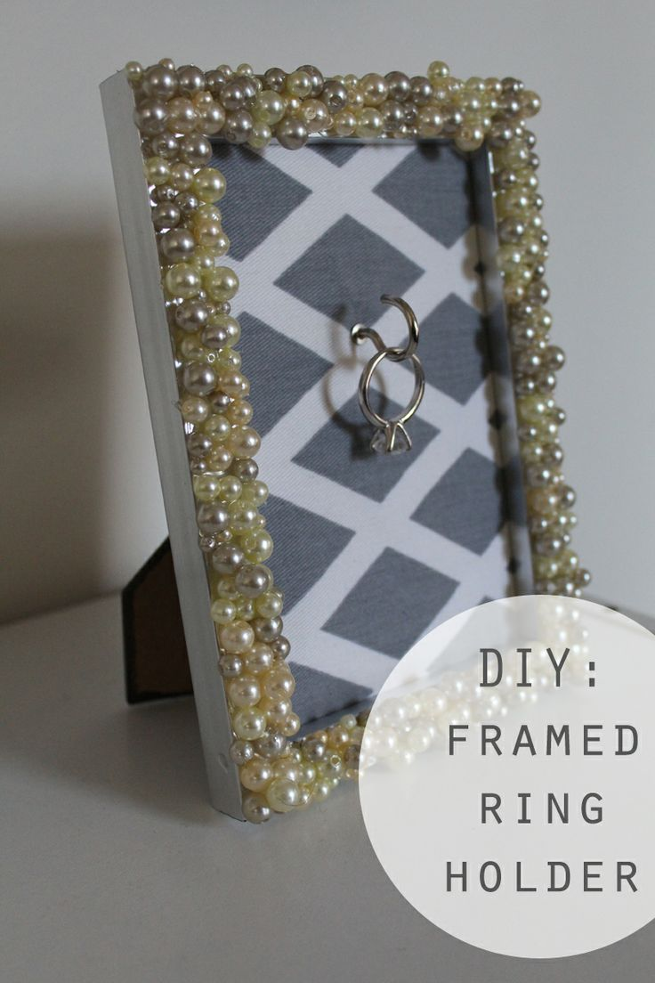 DIY: Engagement Ring Frame Holder. Got the frame now I just need to get the rest and make it!!