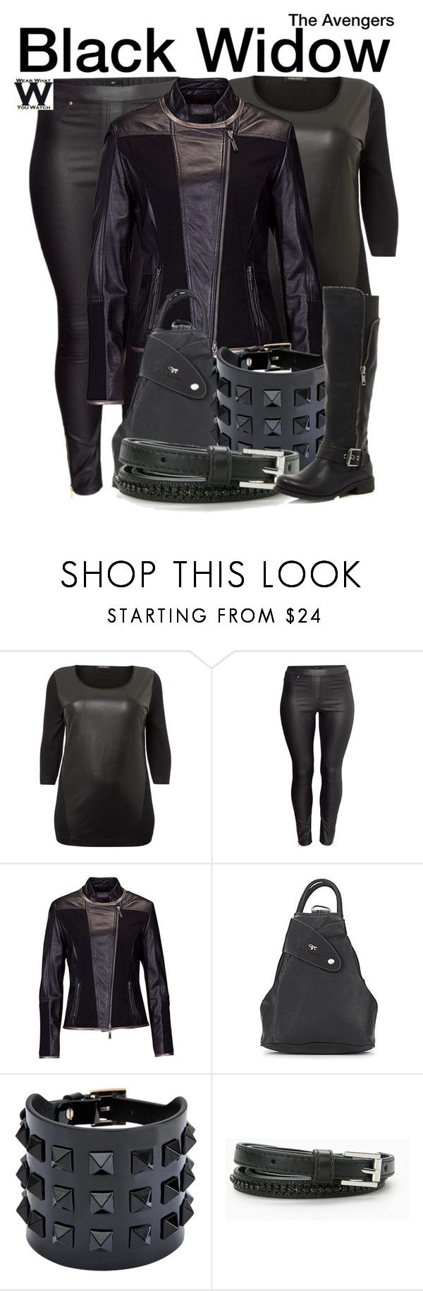 """""""The Avengers"""" by wearwhatyouwatch ❤ liked on Polyvore featuring Marina Rinaldi, H&M, Betty Barclay, Valentino, MANGO, River Island, wearwhatyouwatch, marvel and film"""