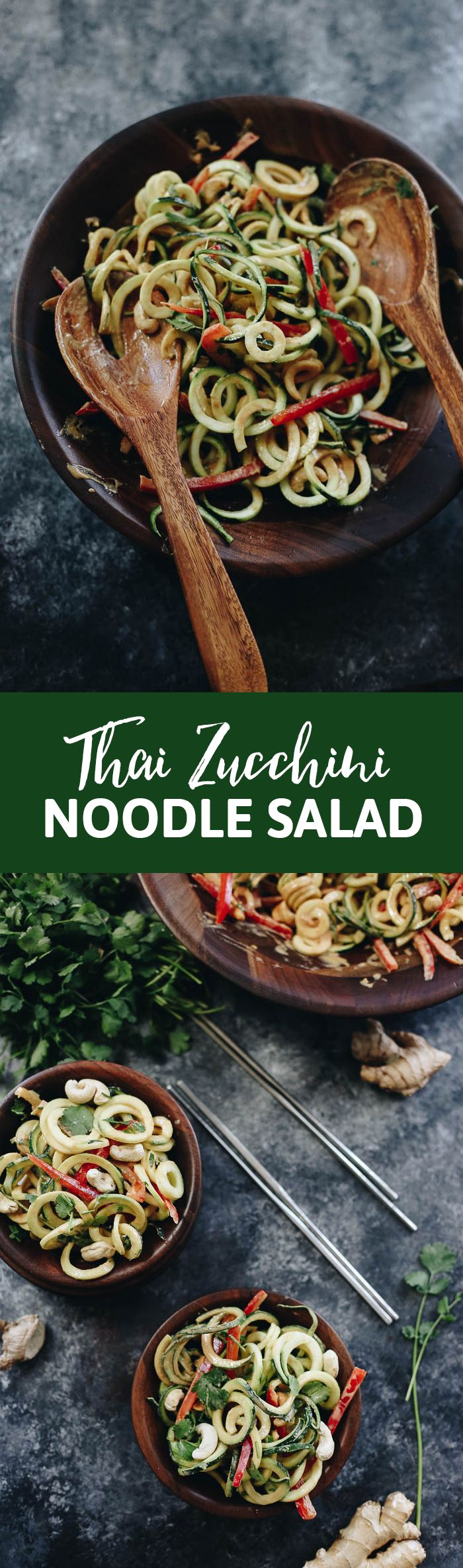 Get an extra dose of veggies with this Thai Zucchini Noodle Salad. Inspired by the flavors of Thailand but with a spiralized twist, you will love serving up this recipe as a healthy side dish or salad starter.