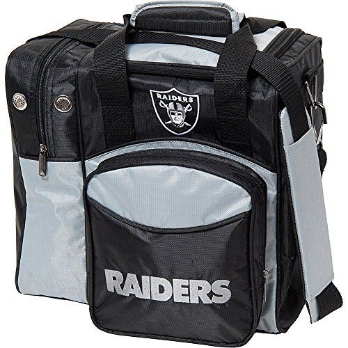 KR Strikeforce Oakland Raiders Single Bowling Bag, Multicolor:   Support your favorite professional football team with one of the KR NFL single tote bags. This single tote offers plenty of room for a ball, shoes, and accessories. And the vibrant colors will leave no doubt as to which team you root for.