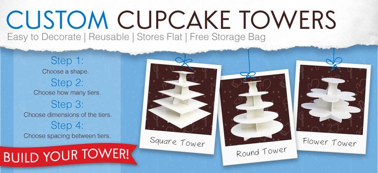 Create Your Own Custom Cupcake Tower Stand