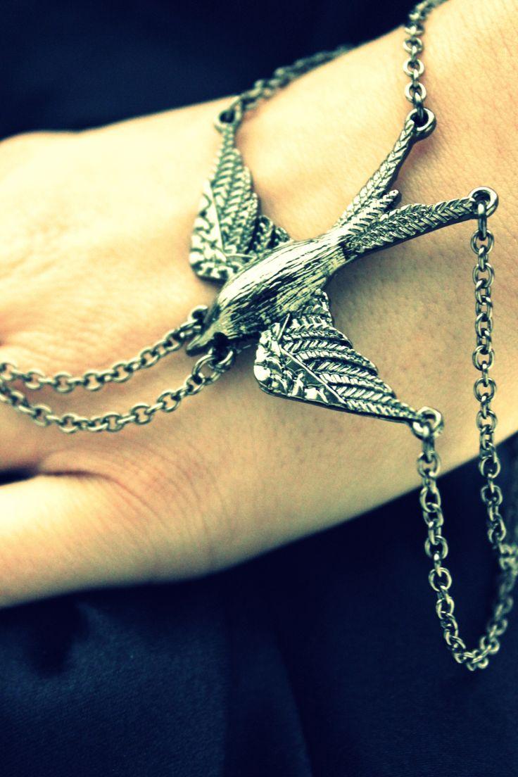 Bird Hand Bracelet - missraspberry.se