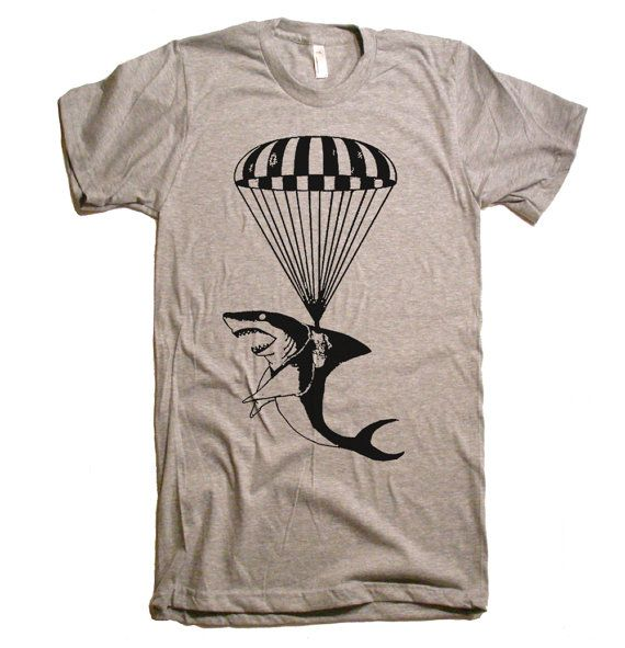 Mens Operation Shark Paratrooper T Shirt - American Apparel Tshirt tee - XS S M L XL and XXL (28 Color Options) on Etsy, $20.00