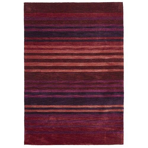 Designer Tufted Rug - Stripe Crimson - 320 x 230cm 6% OFF | $609.00 - Milan Direct