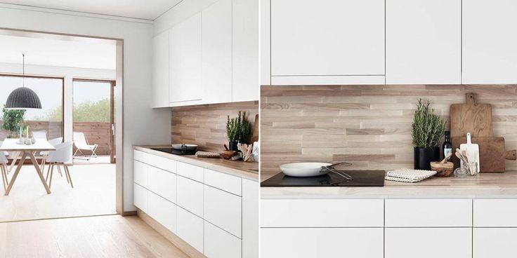 17 migliori idee su mobili cucina legno su pinterest cucina naturale piastrelle paraspruzzi - Mobili design scandinavo ...