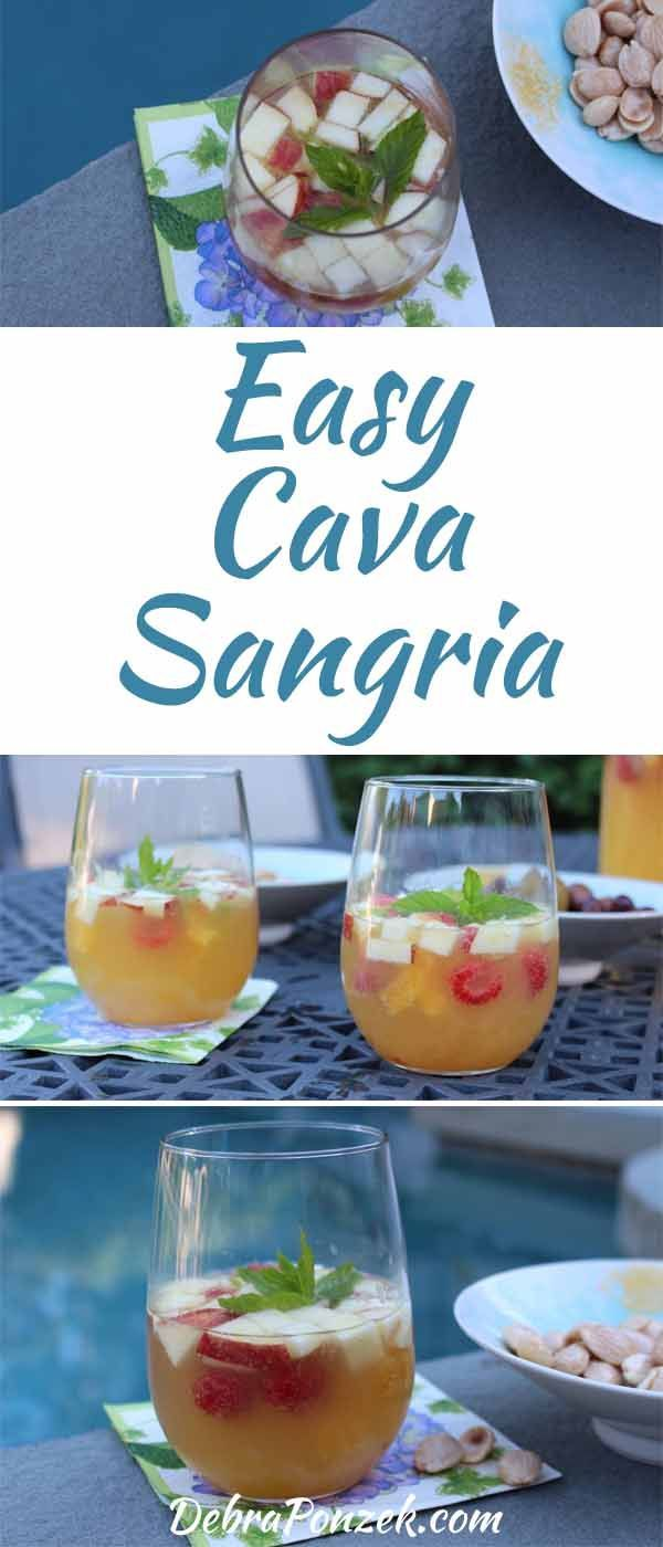 Having a refreshing cocktail recipe on hand is great, having one that you can make ahead of time like the Cava Sangria recipe is better.