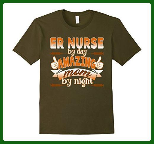 Mens Er Nurse Shirt - Love Er Nurse Tee Shirt Medium Olive - Careers professions shirts (*Amazon Partner-Link)