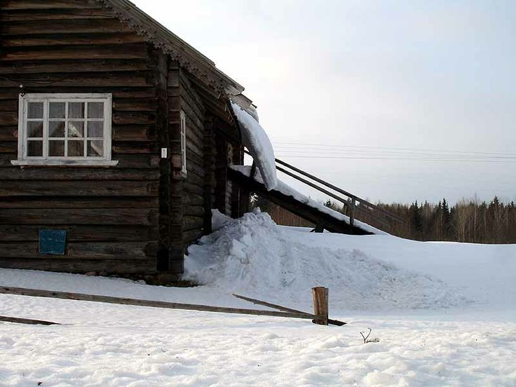 Russian wooden house, Karelia, North-West Russia
