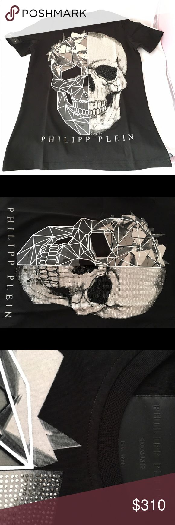 "T-shirt Philipp Plein ""a big trouble"" T-shirt Philipp Plein ""a big trouble"" with an iconic skull in front, Fw16, 100% cotton, new with tags. Philipp Plein Shirts Tees - Short Sleeve"