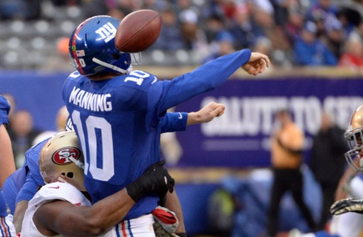 NY Giants fall to 3-7. It's hard not to pin this loss on Eli Manning. Five costly interceptions may have put the nail in the Giants coffin.