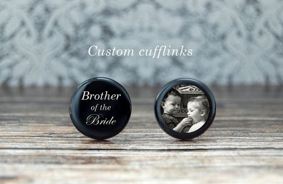 Brother of the bride cufflinks gift for brother by PeaceOfCat
