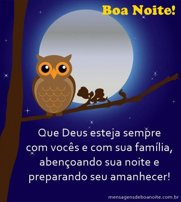 Mensagens de Boa Noite Abençoado