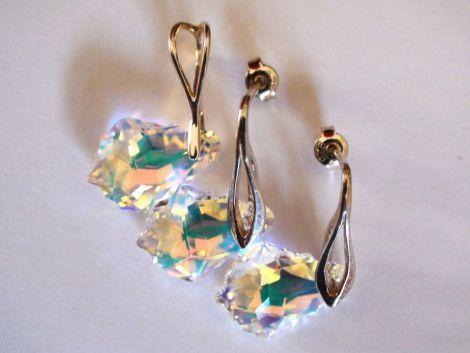 Pandantiv si cercei din Cristale Swarovski baroc