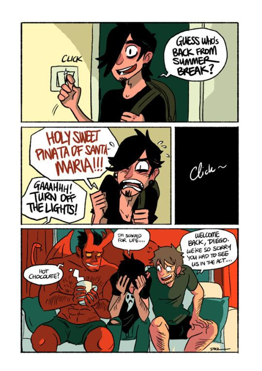 009- Housemate's Surprise   Written and illustrated by tohdaryl.  #tohdaryl #tobiasthedemonandguy