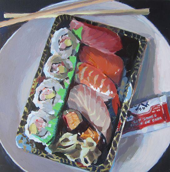Sushi by Kaethe Bealer Acrylic ~ 8 x 8