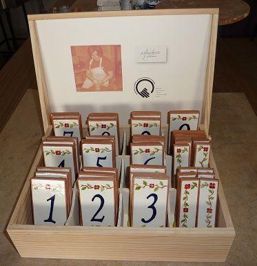 azulejos manuais de números de porta em barro,