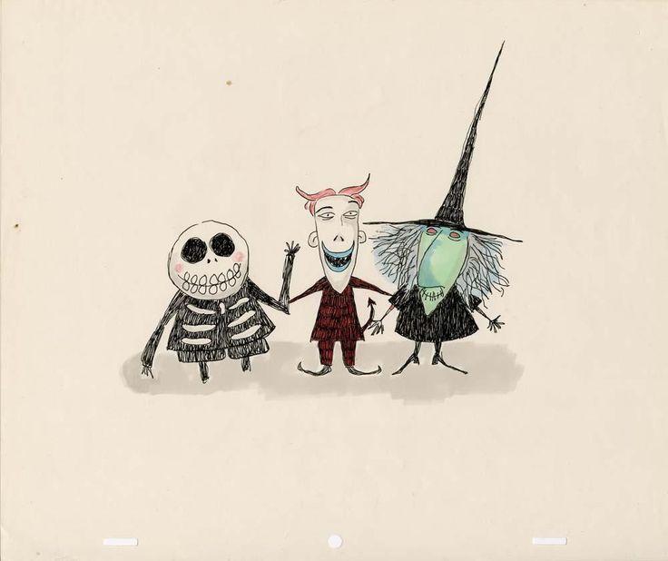 "timburtonsblog: "" "" Original sketches by Tim Burton. "" The Nightmare Before Christmas """