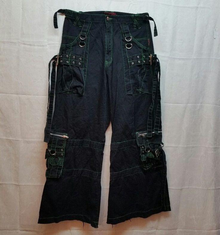 TRIPP pants - black/green size L