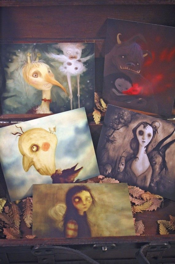 Aren't these adorable?: Imaginary Friends, Strange Friends, Monsters Magic, Magic Forests, Postcards Strange, Magic Creatures, Originals Postcards, Fairies Tales, Friends Monsters