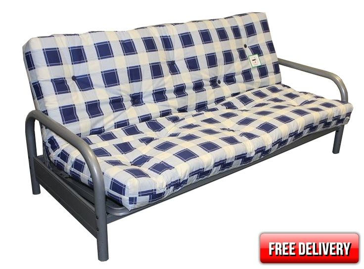 3 seater budget deluxe futon     the price includes a deluxe 5 layer futon mattress as shown in the picture this is a deeper better quality and more     21 best futons images on pinterest   futons couch and queen beds  rh   pinterest