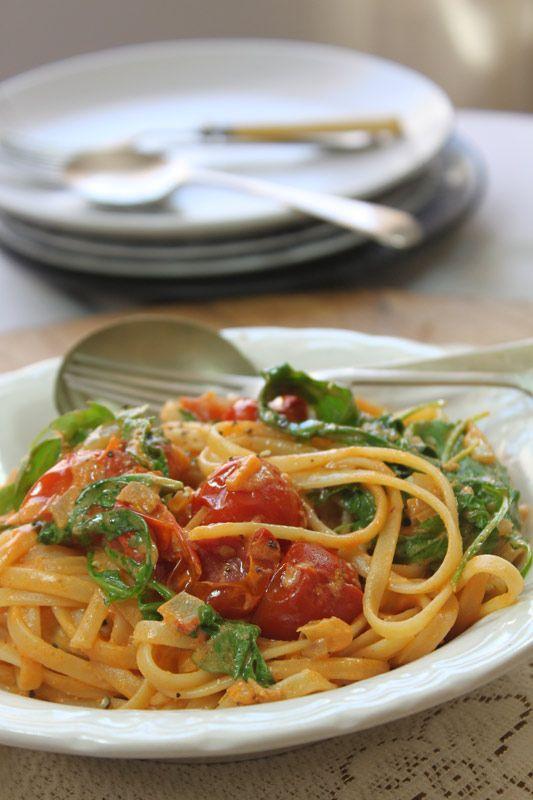 Creamy Tomato & Rocket Linguine   | Crush Magazine