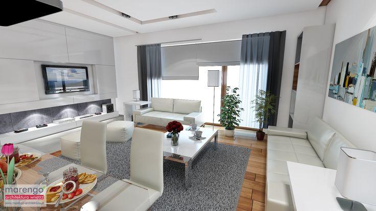 minimalizm w domu w Niepołomicach, salon
