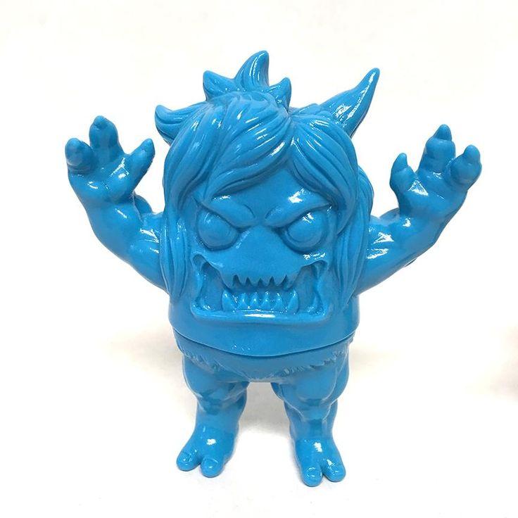 Ugly Onicorn Rampage Toys x Konatsuya 5-inch Sofubi Vinyl Figure Dark Teal Blue Exclusive Unpainted Version PREORDER