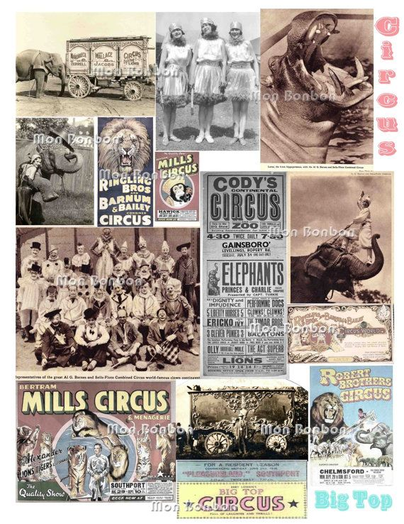 Vintage Circus Photos and Ephemera for Download use by monbonbon, $2.99