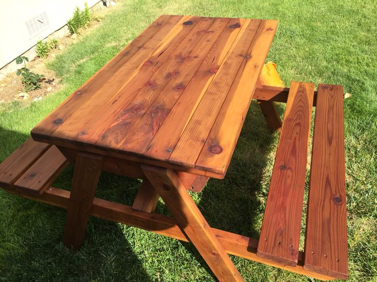 Picnic table with built in sand box for the kids Sandbox ...
