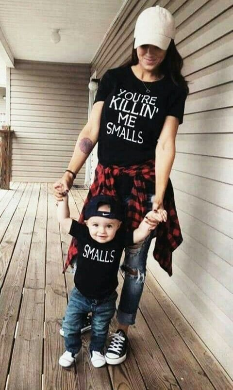 This Is A Fantastic Look For Mommy And Son Casual Adorable With Bit Of Humor