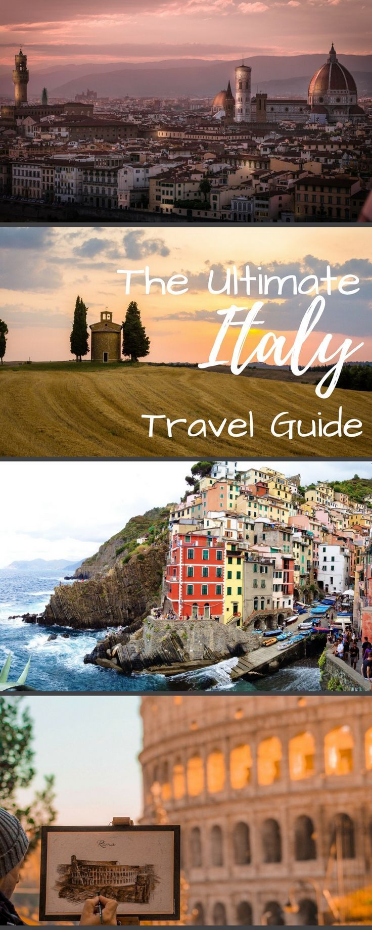 The ultimate Italy vacation travel guide. Including places and cities to visit on your vacation, itinerary ideas, honeymoon ideas, and many places like Milan, Cinque Terre, Florence, Rome, Positano, Capri, Tuscany, Venice, and Naples.