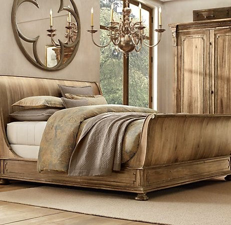 Another Fantastic Sleigh Bed   RESTORATION HARDWARE