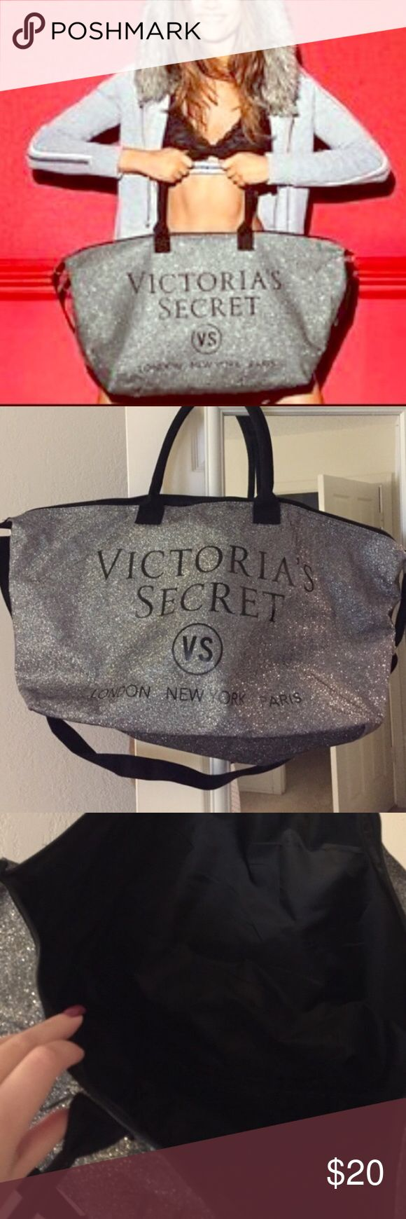 VS fashion show tote Never used VS fashion show tote. Very large and I am selling much cheaper then every other posher Victoria's Secret Bags Totes
