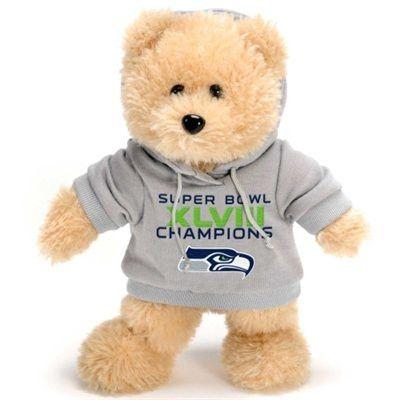 Seattle Sehawks Fuzzy Hoody Bear