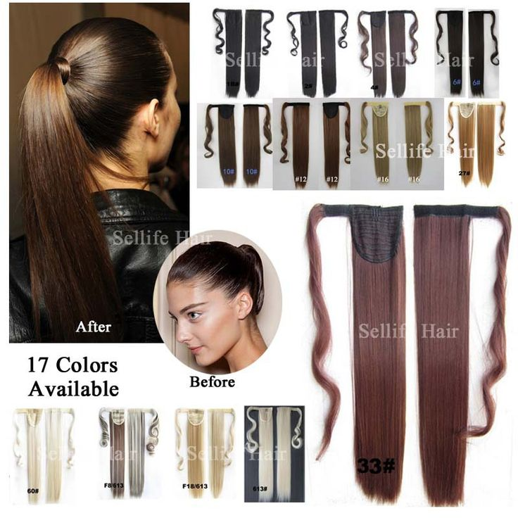 Hair Piece 24inch 60cm 100g Straight  Ponytails Magic Ponytails Pop Fashion Girl LADY Clip On Hair Extension Euro Blond Color *** Check out the image by visiting the link.