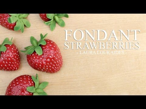 How to make Fondant Strawberries - Laura Loukaides - YouTube