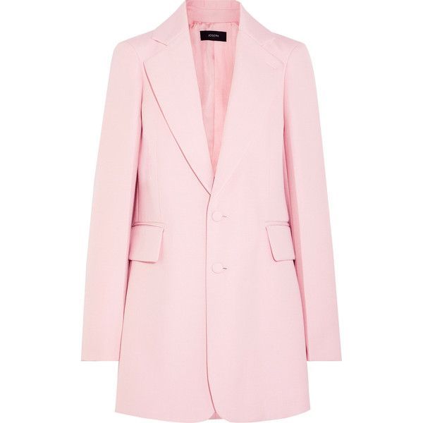 Joseph Enden oversized twill blazer ($895) ❤ liked on Polyvore featuring outerwear, jackets, blazers, coats, baby pink, oversized jacket, structure jacket, pink blazer, tailored blazer and twill jacket
