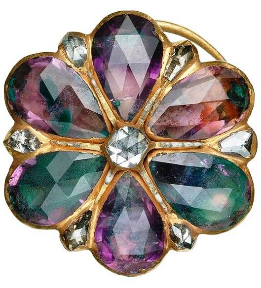 From the Cheapside Hoard A Rosette Broach with Amethyst and Diamonds